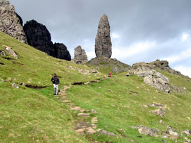 Rock formations at the Storr on Skye.