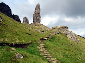 Path leading to Old Man Of Storr.
