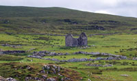 Ruined Unish House on Waternish Point, Skye.