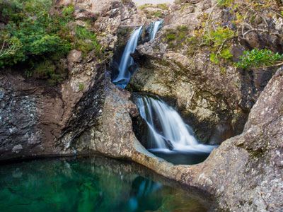The Isle of Skye Fairy Pools, Scotland.