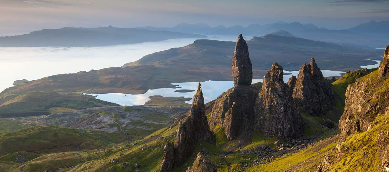 Old Man of Storr on the Isle of Skye in Scotland