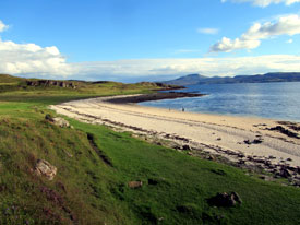 Popular walk at Coral Beach near Dunvegan.