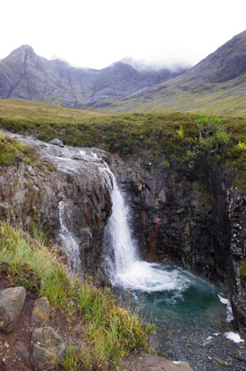 Black Cuillins above Fairy Pool on Skye