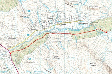 Glenhinnisdal Map