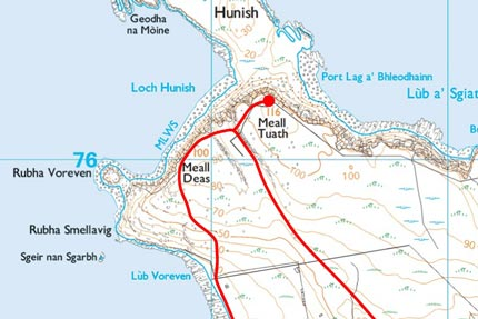 Rubha Hunish Map