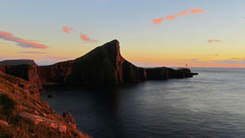 Neist Point Light House at Sunset.