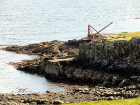 Old crane at Neist Point.