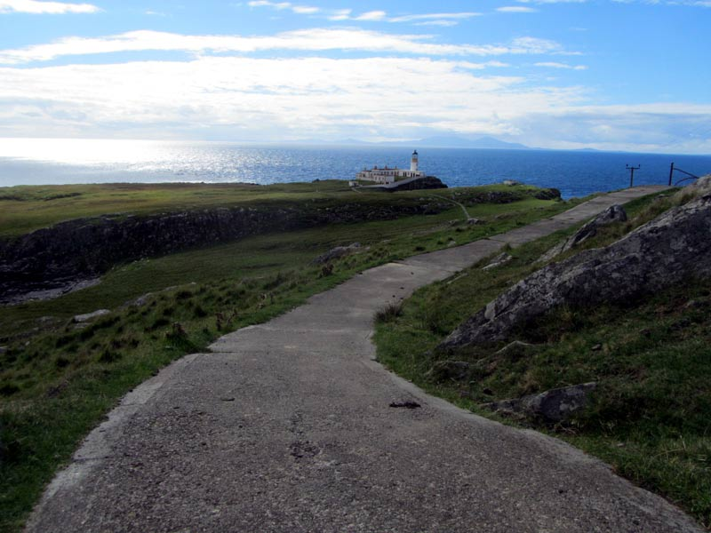 neist point lighthouse on the isle of skye in scotland