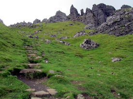 Path on Storr walk Skye.