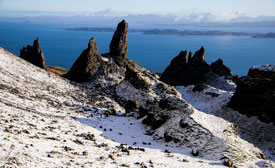 Winter view of the Storr near Staffin.