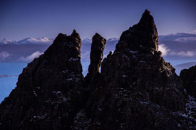 Rocks at Storr on Skye.