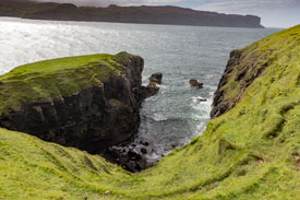 Oronsay Island Cliff