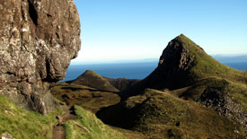 Quiraing path and view.