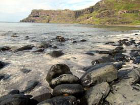 Shore at Beach Talisker  on Skye.
