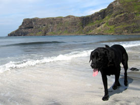 Sandy beach at Talisker on Skye.